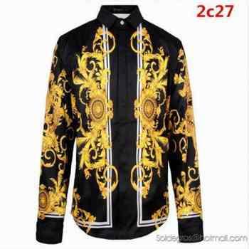 Zip Collection Versace Homme Nouvelle 80wopkn Chemise QBoCWrdex